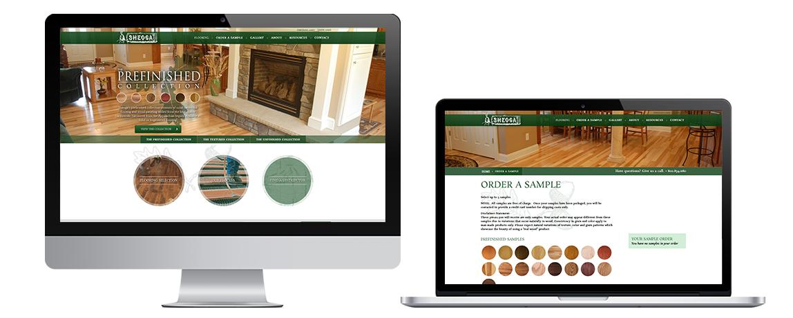 Sheoga Hardwood Website Showcase