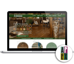 Sheoga Hardwood Website Mockup