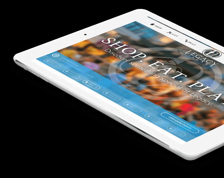 Cleveland Website Design Example Legacy Village iPad Mockup