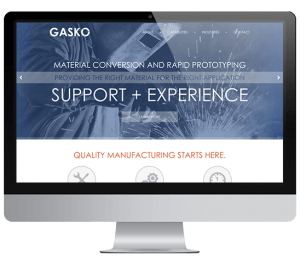 Gasko Website Sample Mockup