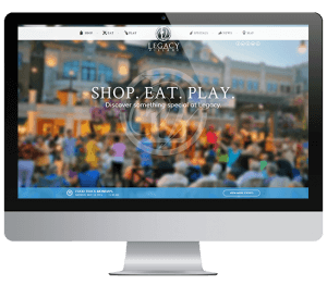 Legacy Village Website Sample Mockup