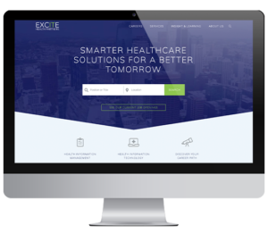 Excite Health Partners website mockup