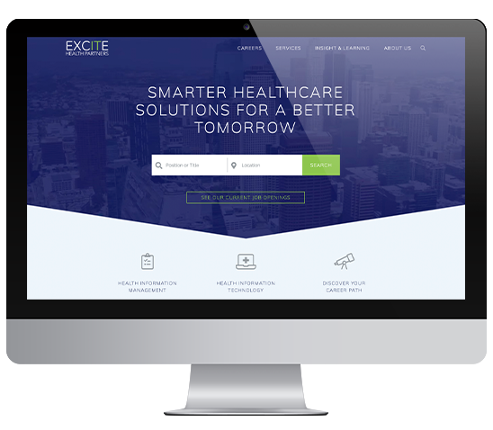 Excite Health Partners website mockup