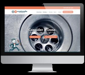wyatt works website on computer screen