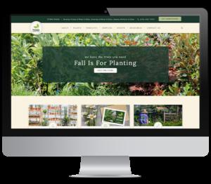 Primex Garden Center website desktop mockup