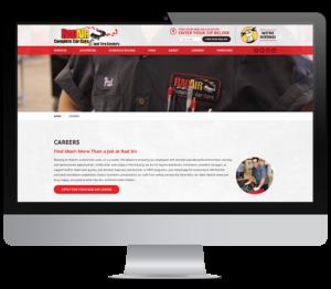 Rad Air careers page desktop mockup